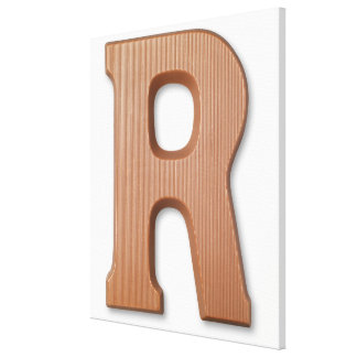 Chocolate letter r canvas print