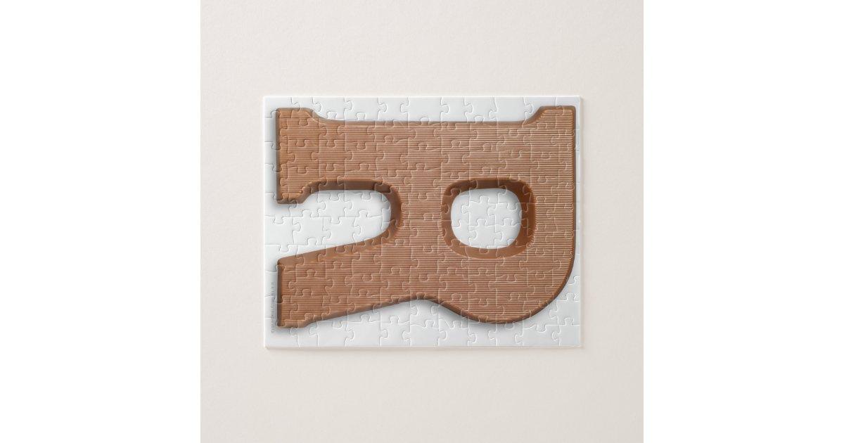 Chocolate letter r puzzle zazzle for Soil 8 letters crossword clue