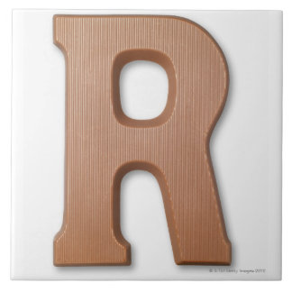 Chocolate letter r tile