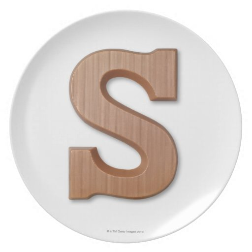 Chocolate letter s plate