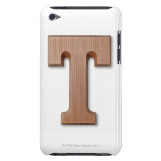 Chocolate letter t iPod Case-Mate case