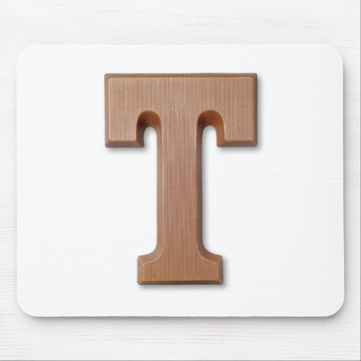 chocolate letter T Mouse Pad