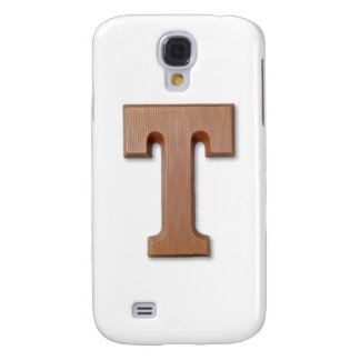 chocolate letter T Samsung Galaxy S4 Cases