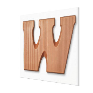 Chocolate letter w canvas print
