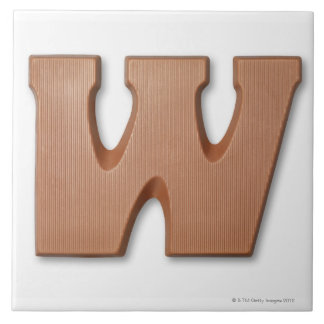 Chocolate letter w tile