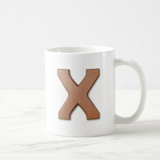 Chocolate letter X Coffee Mug