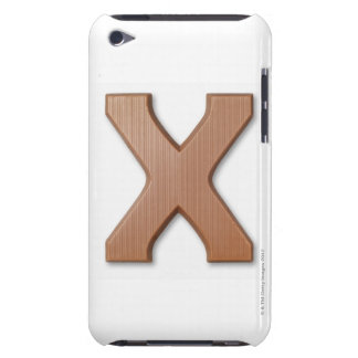 Chocolate letter x iPod Case-Mate case