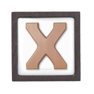 Chocolate letter x premium jewelry box