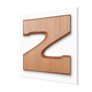 Chocolate letter z canvas print