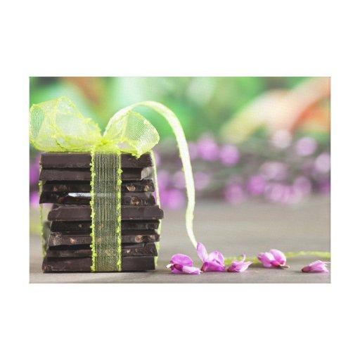 Chocolate Lona Envuelta Para Galerías
