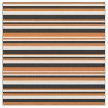 [ Thumbnail: Chocolate, Light Cyan, and Black Lines Fabric ]