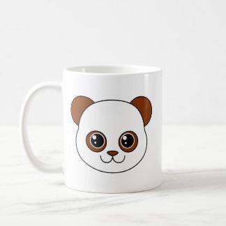 Chocolate lindo de la panda taza básica blanca