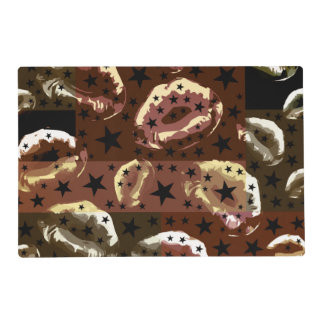 Chocolate Lips Stars Placemat