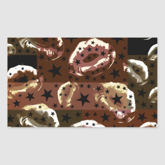 Chocolate Lips Stars Rectangular Sticker