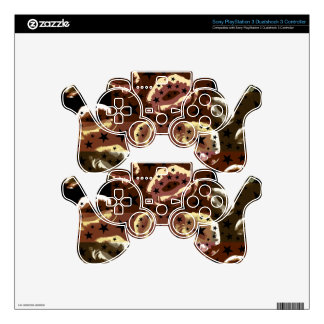 Chocolate Lips Stars Skins For PS3 Controllers