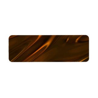 Chocolate líquido derretido caliente texturizado etiquetas de remite