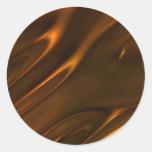 Chocolate líquido derretido caliente texturizado etiquetas redondas