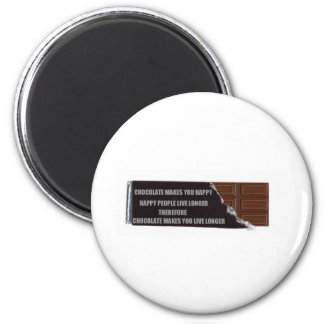 Chocolate logic 2 inch round magnet