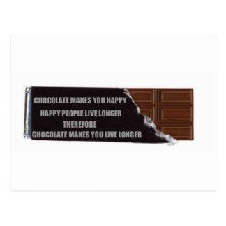 Chocolate logic postcard