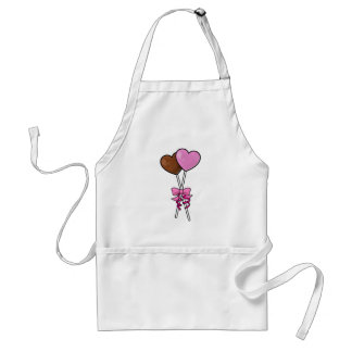 Chocolate Lollipops with Bow Adult Apron