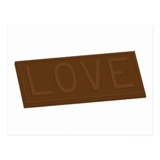Chocolate Love Bar Postcard