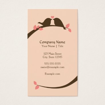 Professional Business Chocolate Love Birds Business Card