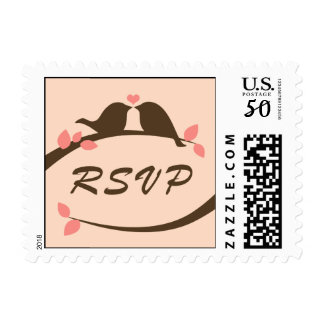 Chocolate Love Birds RSVP Postage