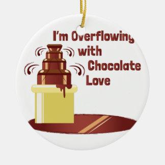 Chocolate Love Ceramic Ornament