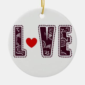 Chocolate Love Heart Christmas Ornament