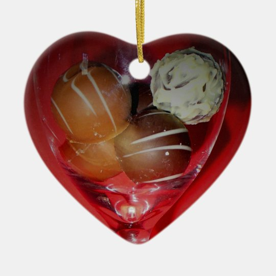 Chocolate Love in Glass Ornament