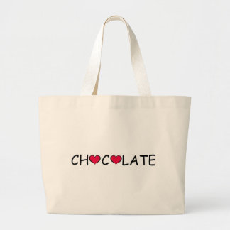 CHOCOLATE LOVE LARGE TOTE BAG