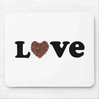 chocolate love mouse pad