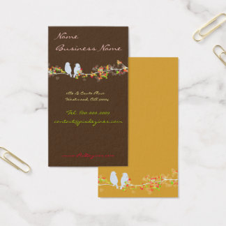 Chocolate+lovebirds on a branch/DIY color Business Card