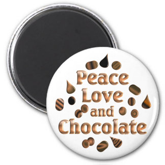 Chocolate Lover 2 Inch Round Magnet