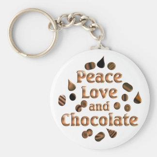 Chocolate Lover Basic Round Button Keychain