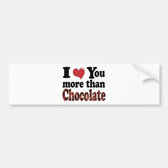 Chocolate Lover Bumper Sticker