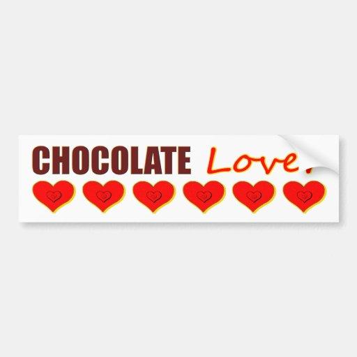 Chocolate Lover bumper sticker