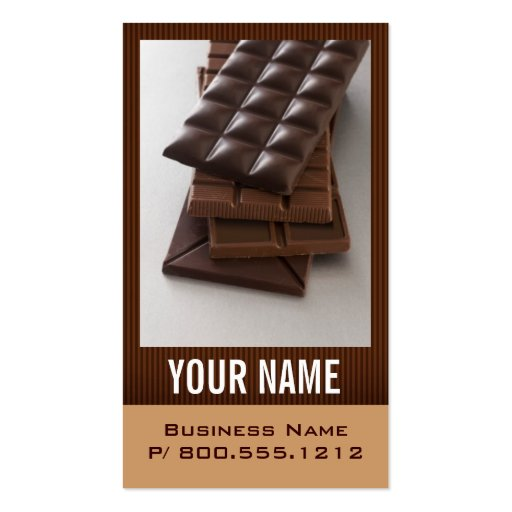 Chocolate Lover Business Cards (front side)