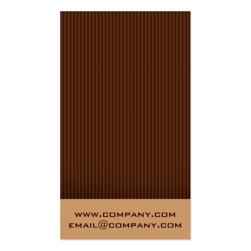 Chocolate Lover Business Cards (back side)