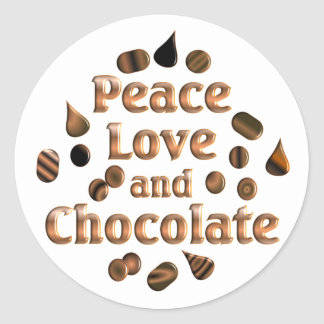 Chocolate Lover Classic Round Sticker