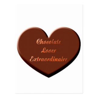 Chocolate Lover Extraordinaire Postcard