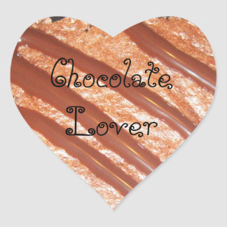 Chocolate Lover Heart Sticker Stickers