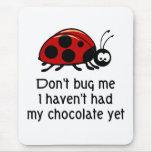 Chocolate Lover Ladybug Mouse Pad