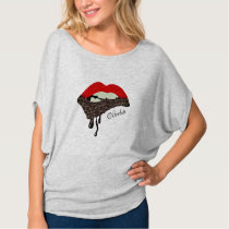 Chocolate Lover Nutty Lips T-Shirt