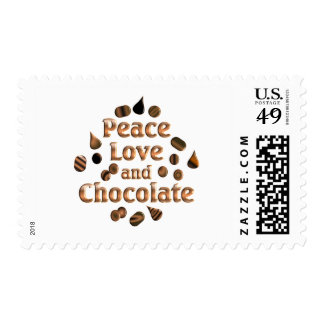 Chocolate Lover Postage Stamp