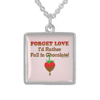 Chocolate Lover Sterling Silver Necklace