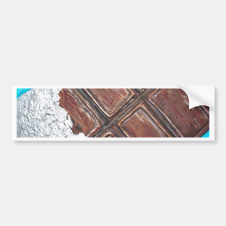 chocolate lovers art bumper sticker