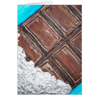 chocolate lovers art card