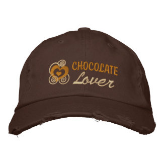 Chocolate Lover's Embroidered Baseball Cap