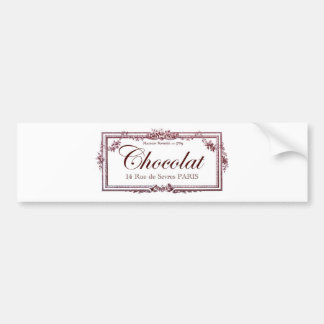 Chocolate lovers .... love this vintage French art Bumper Sticker